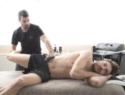tratamiento recuperación muscular a deportista