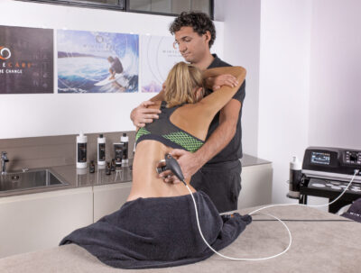 Treatment of tecar for lower back pain